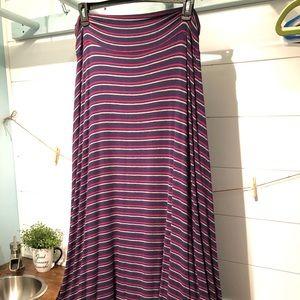 Navy stripe Merona Maxi length Skirt